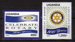 Uganda 2004 The 100th Anniversary Of Rotary International .MNH - Uganda (1962-...)