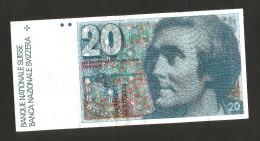 SVIZZERA / SUISSE / SWITZERLAND - NATIONAL BANK - 20 FRANCS / FRANKEN - De Saussure - Suisse