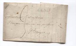 LAC Griffe GEND Taxée 3 V.Bruges (Brugge) PR2751 - 1815-1830 (Periodo Holandes)