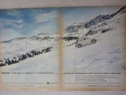 ADVERTISING PUBBLICITA´ VOLKSWAGEN SUI TERRENI NEVOSI E GHIACCIATI    -- 1963 - - Werbung