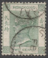 BPOs In China. 1900-01 QV Of Hong Kong. 2c Used With Type D Shanghai Cancel. Crown CA W/M SG Z814 - Otros