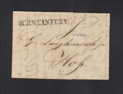 Bayern Faltbrief 1821 Schweinfurt Nach Hof - Deutschland