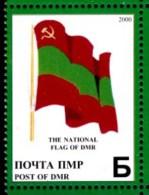 2000 Transnistria (Moldova) - 10 Years Independence 1v., Flag , Drapeau, Bandera Local MNH - Francobolli
