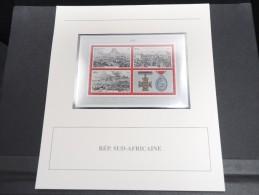 AFRIQUE DU SUD -  Bloc Luxe Avec Texte Explicatif - Belle Qualité - À Voir -  N° 11718 - Hojas Bloque