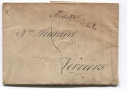 LAC Daté De Bruxeles Griffe Brussel En 1825 Taxée 5 V.Verviers PR2753 - 1815-1830 (Dutch Period)