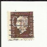 Timbre 2 Fr -Marianne-Dulac_Perforé ( C  N )  Bon Etat 1945 - Francia