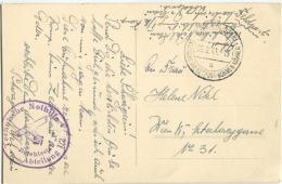 """1941 Stp Mährisch-Ostrau DEUTSCHE DIENSTPOST-BÖHMEN-MÄHREN,Technische Nothilfe Befehlsstab """"r"""" Abteilung 1/2 AK Lager - Covers & Documents"""
