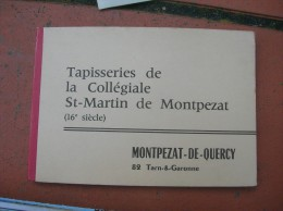 Cpsm 10x15 Carnet De 15 Cartes Tapisserie Collegiale St Martin Montpezat De Quercy Complet Bon Etat - Montpezat De Quercy