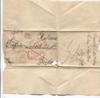 LSC Par Estafette BXL 12/12/1834&c.Anvers 25/12/1834+encadré PP+AED&ambt Belgique Par Valenciennes V.Bordeaux PR2756 - 1830-1849 (Belgique Indépendante)
