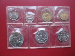 South Africa 1984 7 Coin UNC Set 1 Cent - 1 Rand By South African Mint - South Africa