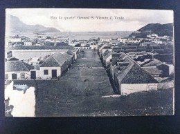 RUA DA QUARTEL GENERAL S VICENTE CABO VERDE POSTAL CIRCULADA A VALENCIA 1912 - Cabo Verde