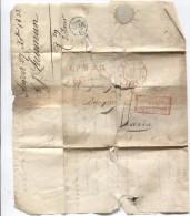 LAC Par Estafette Daté De Anvers 27/12/1833 C.Anvers+Ambt Belgique Par Valenciennes Gff L.P.B.2 R V.Paris PR2757 - 1830-1849 (Belgique Indépendante)