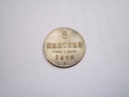 --1--PIECE--6--KREUZER--ARGENT--1849--A--AUTRICHE------SUP+++- - Autriche
