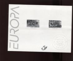 Belgie 1997 Europa CEPT 2693/94 Bokkenrijders  Zwart-wit Velletje OCB15€ - Foglietti Bianchi & Neri