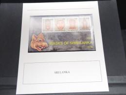 SRI LANKA -  Bloc Luxe Avec Texte Explicatif - Belle Qualité - À Voir -  N° 11743 - Sri Lanka (Ceylon) (1948-...)