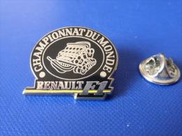 Pin's Arthus Bertrand - Moteur Renault F1 Formule 1 - Championnat Du Monde (AD44) - Arthus Bertrand