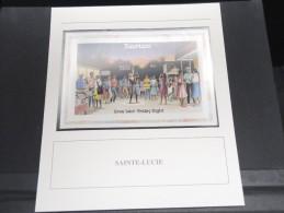 SAINTE LUCIE -  Bloc Luxe Avec Texte Explicatif - Belle Qualité - À Voir -  N° 11745 - Timbres