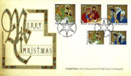 NEW ZEALAND FDC CHRISTMAS WOMAN CHILD SET OF 5 STAMPS HIGH FV DATED 07-10-2009 CTO SG? READ DESCRIPTION !! - New Zealand