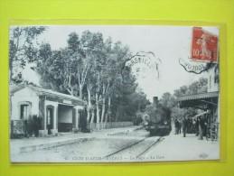 Hyeres ,la Plage La Gare ,train ,état - Hyeres