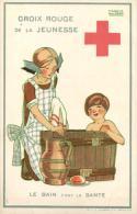 BELGIQUE - CROIX-ROUGE De La JEUNESSE - Le Bain C'est La Santé  - Illustratice Maggie Salcedo (Salzedo). - Croix-Rouge