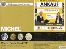 MICHEL Deutschland Münzkatalog 2016 New 27€ Mit DR Ab 1871 III.Reich BRD DDR Numismatik Coin Catalogue 978-3-95402-144-4 - Phonecards