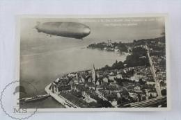 """Old 1934 Postcard Graf Zeppelin Airship - Friedrichshafen Das Luftschiff """"Graf Zeppelin"""" In Voller Fahrt Vom Flugzeug - Dirigibili"""