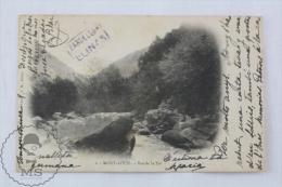 Old France Postcard - Mont Louis - Vue De La Tet - Posted - Francia