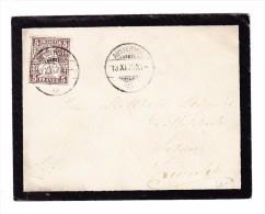 Heimat ZH AUSSERSIHL 13.11.1878 Trauerbrief Mit 5Rp Sitzende Nach Zürich - 1862-1881 Helvetia Assise (dentelés)