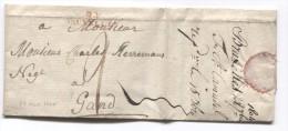 LAC Daté De Bruxelles Du 28/9/1804 Griffe 94 Bruxelles Taxée 2 Pour Gand PR2759 - 1794-1814 (French Period)