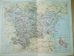 Aude Carcasonne Sud - Centre France Cathar Country 1888 - Cartes Géographiques