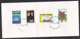 Maldives: Cover To Netherlands, 1992, 4 Stamps, Ship, Flower, Prince Andrew & Sarah Ferguson (traces Of Use) - Maldiven (1965-...)