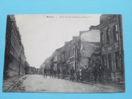 Rue De La Station Et La Gare ( L'Eclipse ? ) Anno 19?? ( Zie Foto Voor Details ) !! - Herve