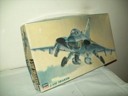 """Aereomodello J-35F Draken (Scatola Di Montaggio Anni 80)  """"scala"""" 1/72 - Aerei E Elicotteri"""