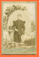 Photographie Grand  CDV Cabinet - Militaire Avec Prix De Tir Du 124° Regiment D'infanterie- Photo Clovis à Laval - Guerra, Militari