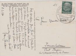 ALLEMAGNE  1937 CARTE DE MARKNEUKIRCHEN CACHET ILLUSTRE THEME TROMPETTE VIOLON - Covers & Documents