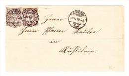 Heimat ZH FLUNTERN 23.4.1878 Brief Nach Russikon Mit 5Rp (2) Sitzende Helvetia - 1862-1881 Helvetia Assise (dentelés)