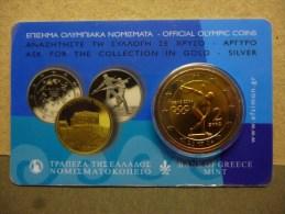 GRIEKENLAND COIN CARD 2004 OLYMPICS - Grèce