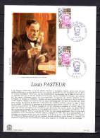 """FRANCE 1973 : Encart 1er Jour """" LOUIS PASTEUR """". Obl. Dole Et Paris. N° YT 1768. Parfait état.  FDC - Louis Pasteur"""