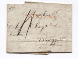LAC Daté De Anvers 12/7/1816 Griffe Antwerpen Taxée 4 Pour Brugge PR2762 - 1815-1830 (Dutch Period)