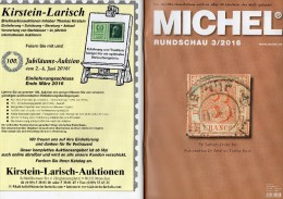 Briefmarken Rundschau MICHEL 3/2016 Neu 6€ New Stamps Of The World Catalogue/ Magacine Of Germany ISBN 978-3-95402-600-5 - Télécartes