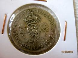 GB 2 Shillings 1945 - 1902-1971 : Monnaies Post-Victoriennes