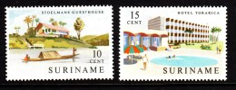Surinam MNH Scott #306-#307 Set Of 2 Stoelmans Guesthouse, Torarica Hotel - Surinam