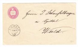 Heimat ZH RIESBACH 22.6.1881 Tüblibrief 10Rp Nach Wald - 1862-1881 Helvetia Assise (dentelés)
