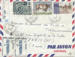 LBL36 - CAMBODGE LETTRE AVION RECOMMANDÉE BATTAMBANG / PARIS  AVRIL 1968 - Cambodia