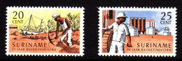 Surinam MNH Scott #341-#342 Set Of 2 Bauxite Industry, 50th Anniversary - Surinam