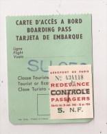 CARTE D'ACCES A BORD  SU 050 - Europe