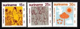 Surinam MNH Scott #402-#404 Set Of 3 Centenary Of Immigrants From India - Surinam