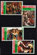 Surinam MNH Scott #454-#457 Set Of 4 Paintings By Surinam Artists - Surinam