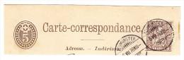 Heimat ZH NEUMÜNSTER 6.7.1878 Mit/auf 5Rp Sitzende #30/Pf.1 Doppelprägung Auf Kartenteil Attest Rellstab - 1862-1881 Helvetia Assise (dentelés)