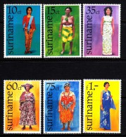 Surinam MNH Scott #465-#470 Set Of 6 Traditional Surinamese Women's Dresses - Surinam